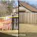Damaged Fence Before and After